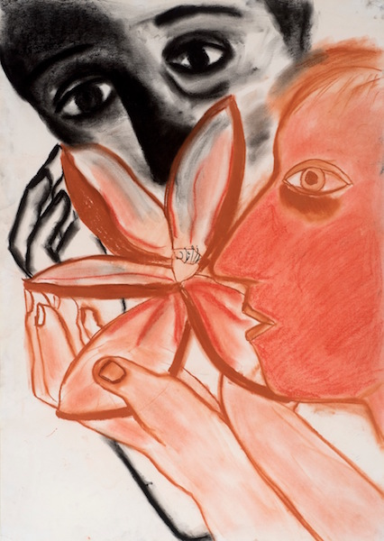 Eileen Cooper - Showing the Flower, 1983, Charcoal and conté, 82 x 59 cm, Alyce Faye Eichelberger-Cleese © Eileen Cooper. All rights reserved, DACS 2016