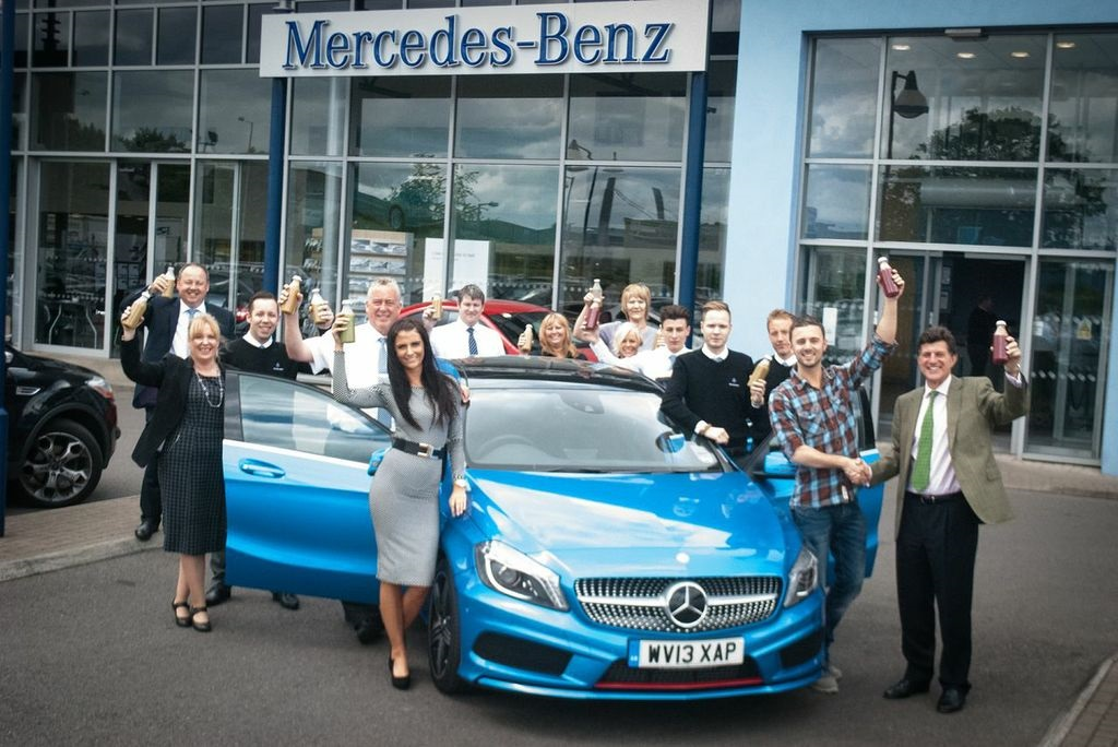 mercedes employees intro juiced to health benefits
