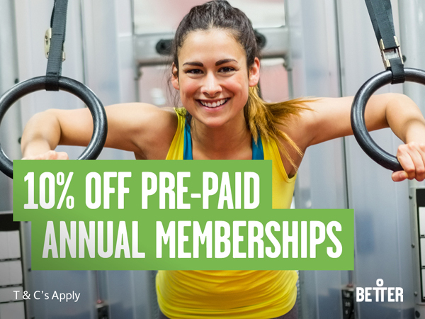 10% Off Pre-Paid Annual Memberships