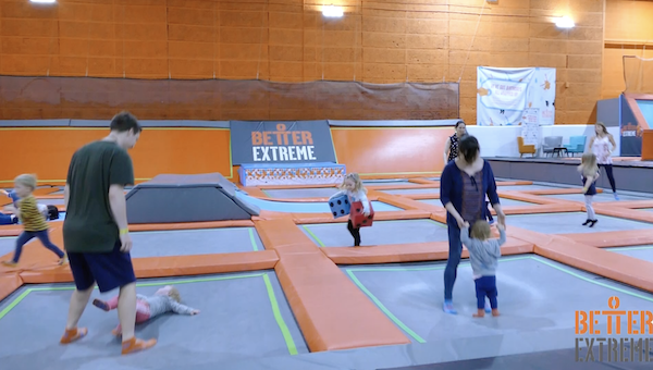 Parent and toddler trampoline session at Better Link Centre
