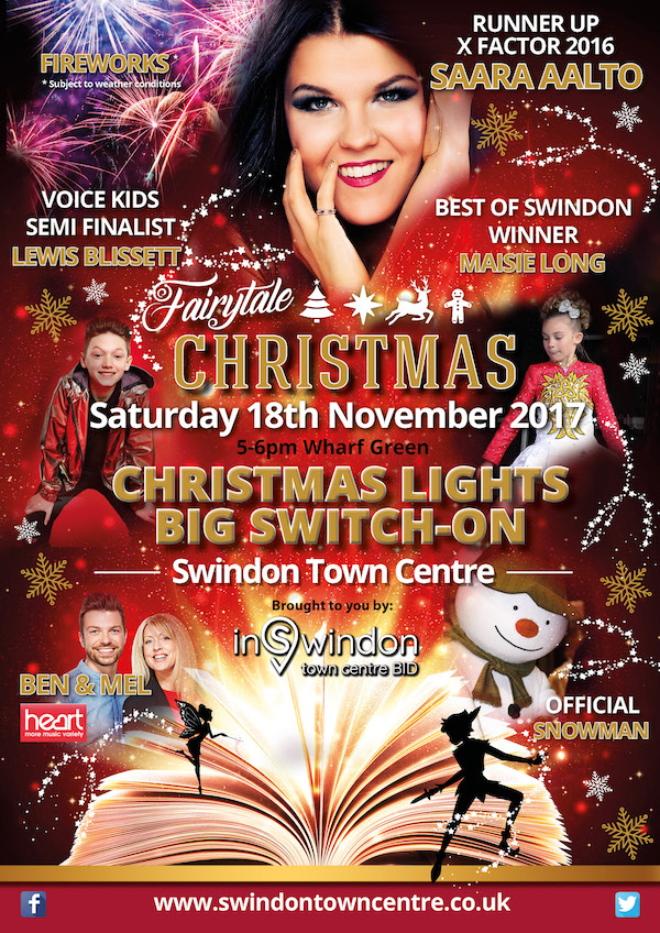Swindon Christmas Lights Switch On 2017