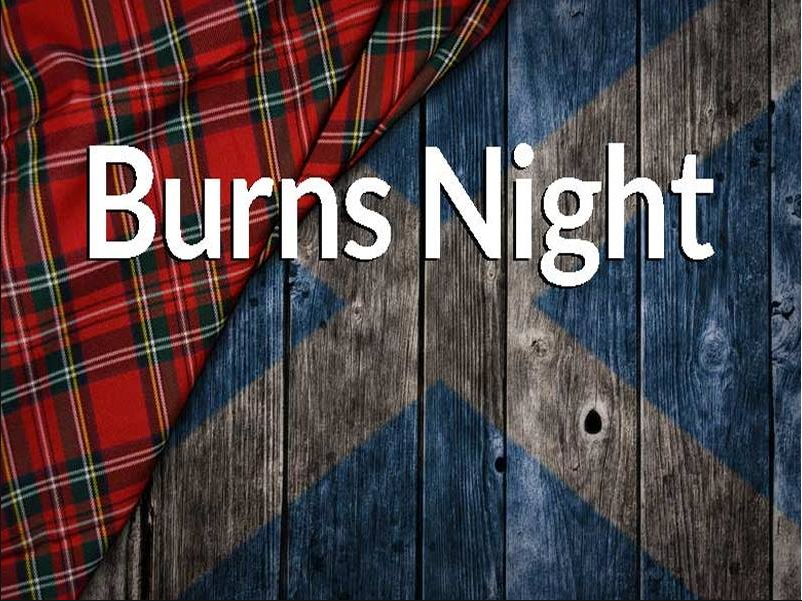 Burns Supper with Whiskey/Gin Tasting and Talk