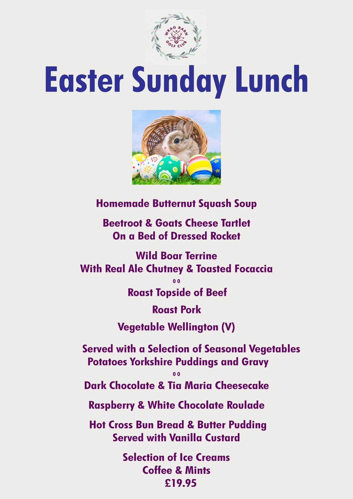 Easter Sunday Lunch at Wrag Barn