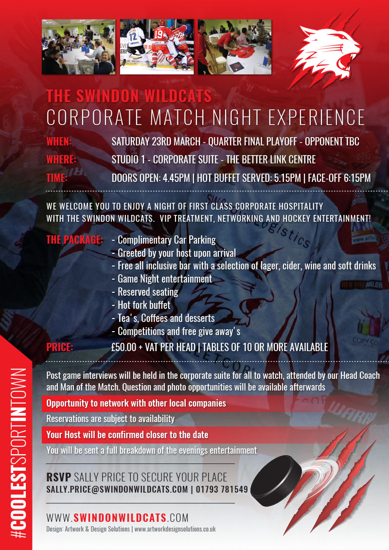The Swindon Wildcats Corporate Match Night Experience
