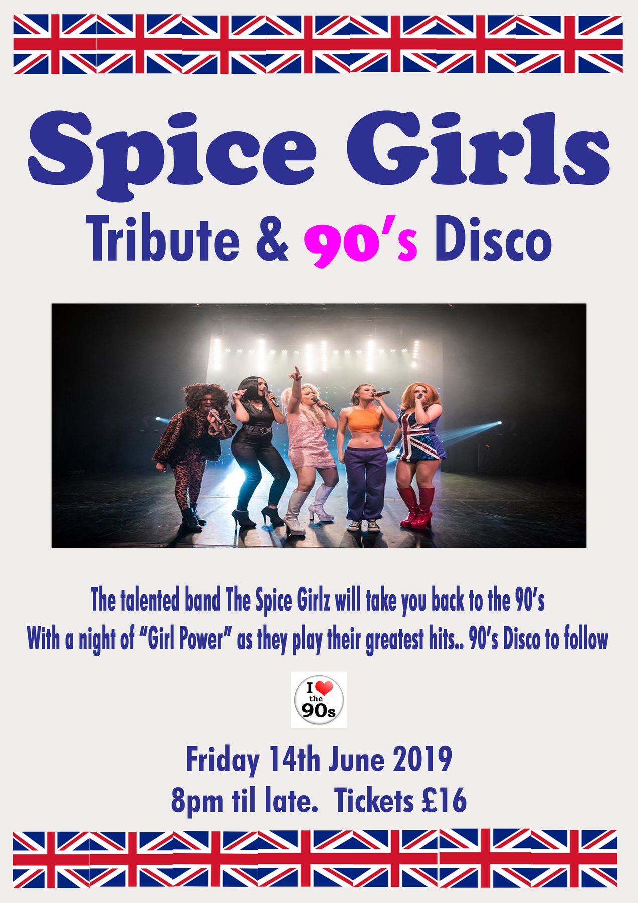 Spice Girls Tribute & 90s Disco