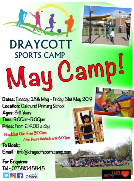 Draycott May Half Term Sports Camp
