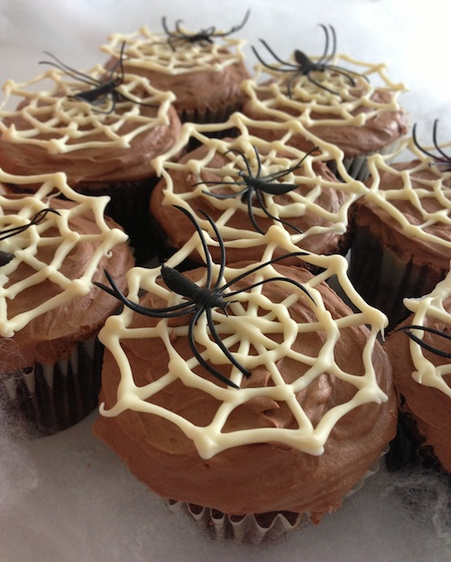 Spiders Web Cupcakes