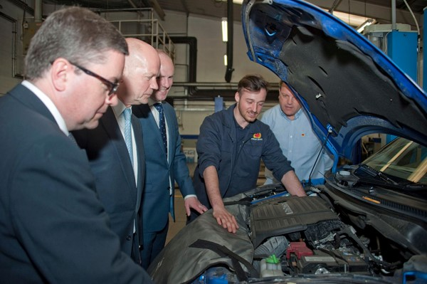 Top Tory Promises Apprenticeship Drive during Visit to Car Dealership