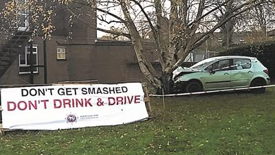 Drink Drive Display at Stratton Fire Station
