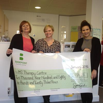Business Centre Donates over £2,900 to Local Charity