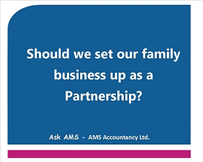 The Pitfalls of Setting Up a Partnership in a Family Business #AskAMS