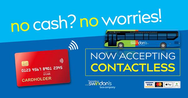 Contactless is Now Available to Use on Thamesdown Buses!