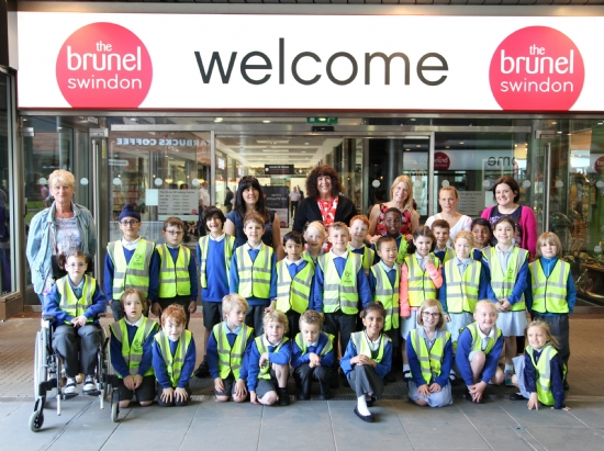 Local Schoolchildren learn about environment at The Brunel Shopping Centre