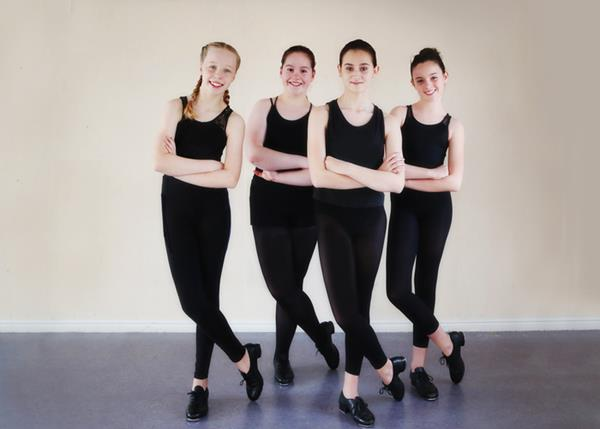 Four of the Dancing Academy students who will be leading Wiltshire's contribution to the national Tapathon 2017 to raise money for BBC Children In Need
