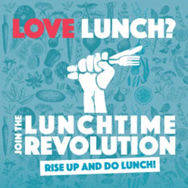 "A  ""Lunchtime Revolution"" Greets Shoppers and Workers in Swindon Town Centre"