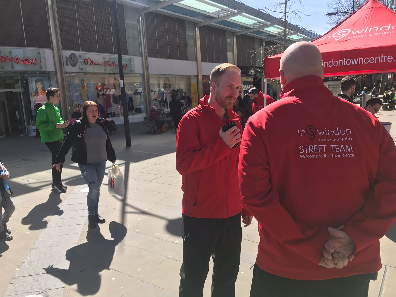inSwindon Street Team Ambassadors to surprise shoppers this Bank Holiday Monday