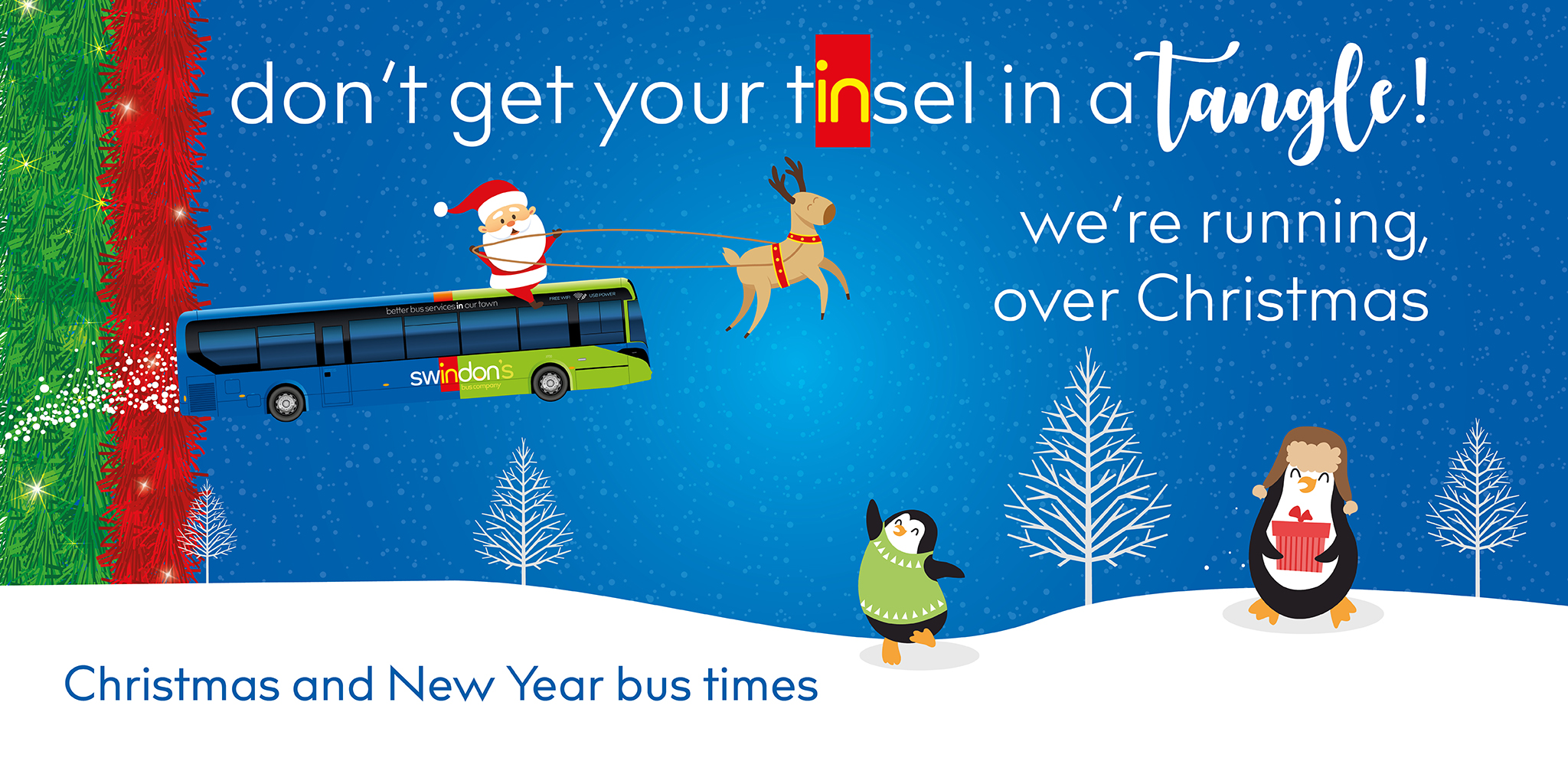 Christmas & New Year Bus Times