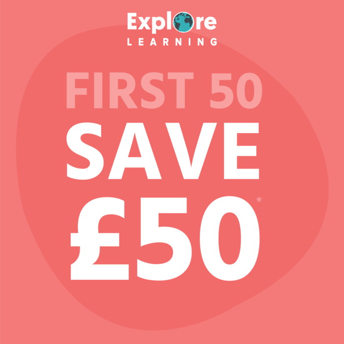 SAVE £50 when you book a session with Explore Learning