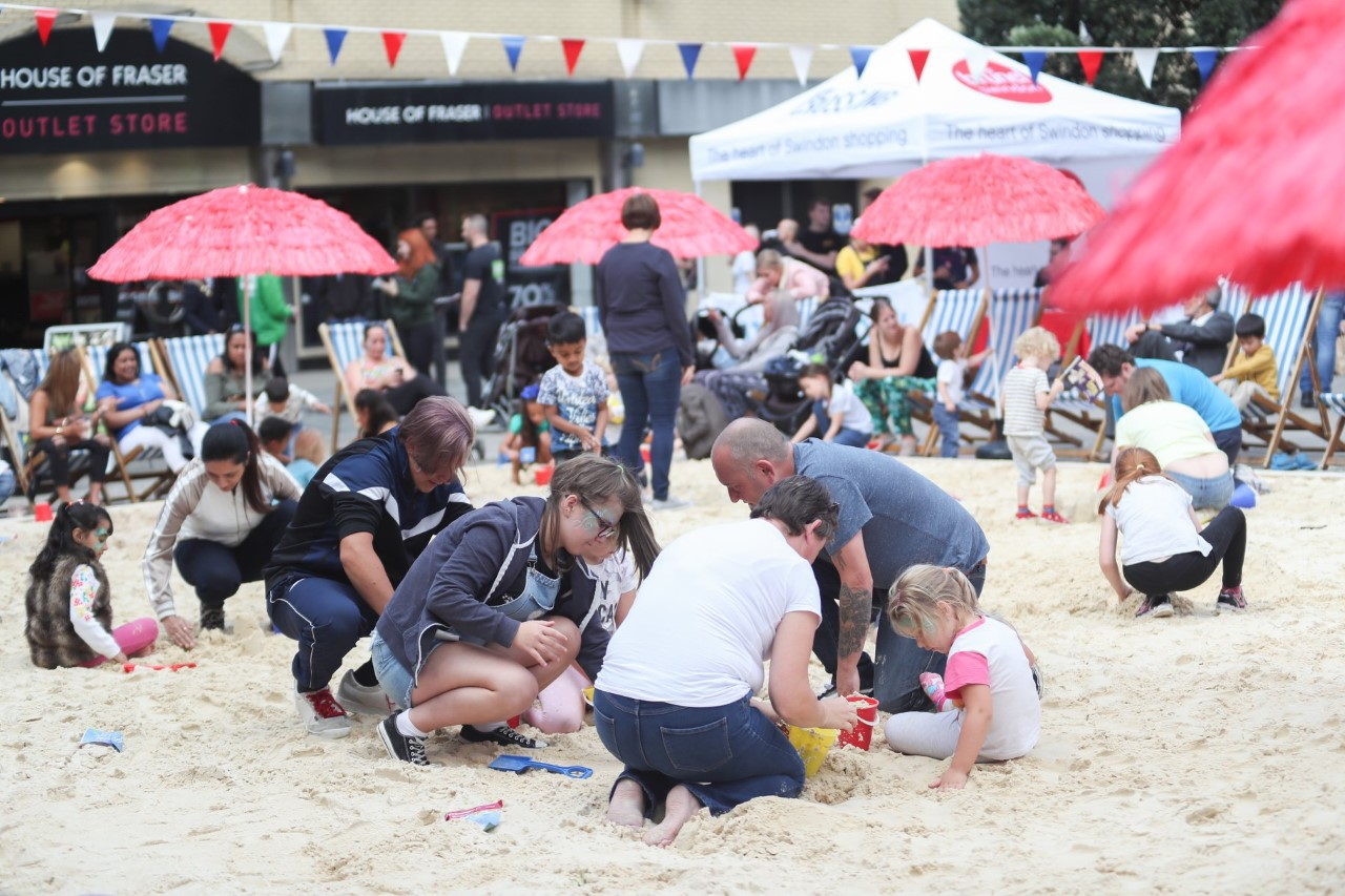 Beach life shore is perfect at Swindon town centre's Urban Beach Experience!