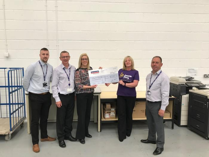 Nationwide Document Management Team raise £2000 for local Swindon & Wiltshire Hospice at Home