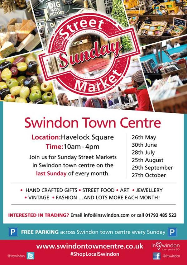 New monthly Street Market Launching in Swindon Town Centre!