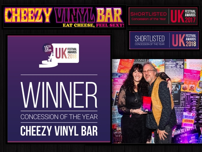 Cheezy Vinyl Bar performing at Minety Music Festival 2019