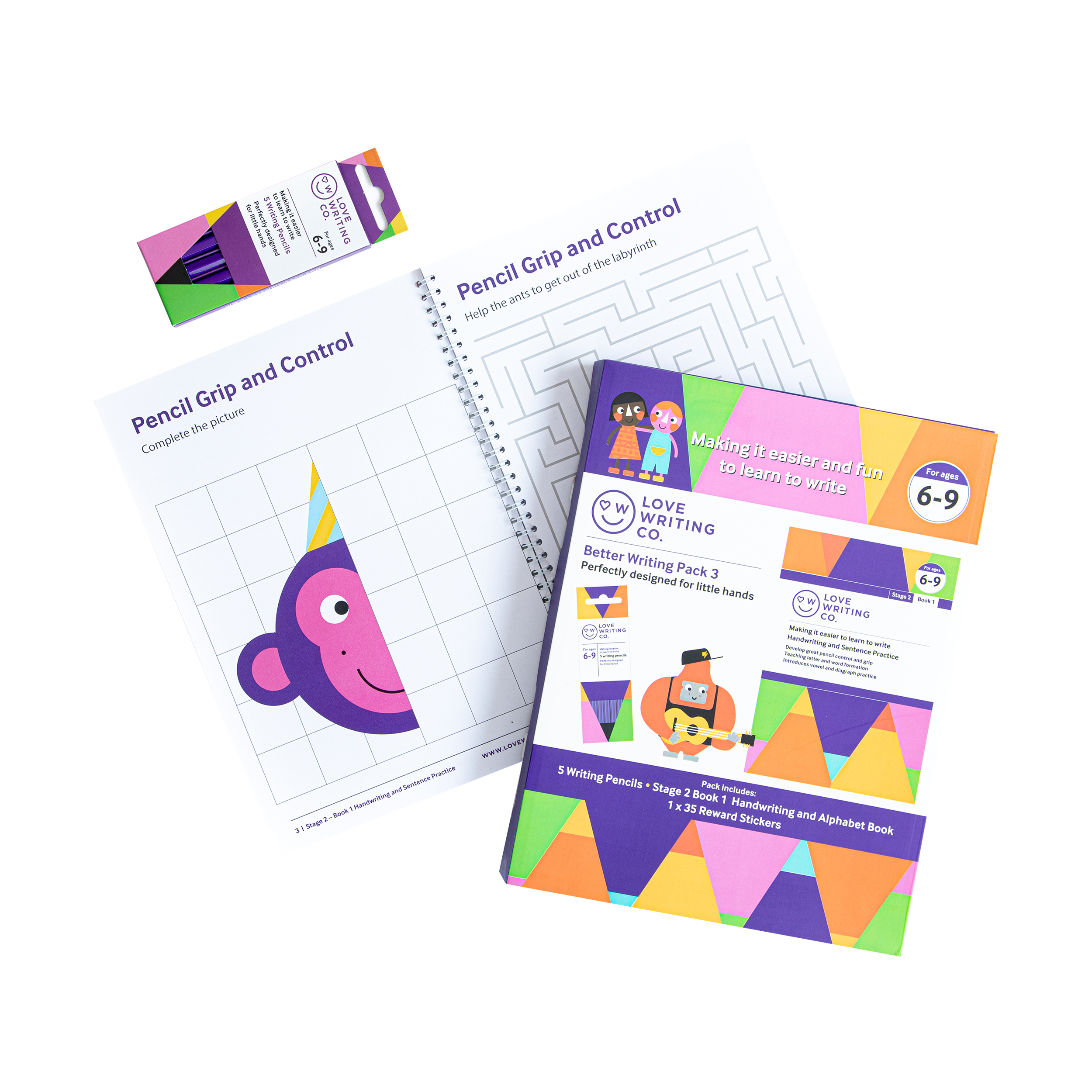 Win 2 New Washable Crayons & Writing Bundle Packs from The Love Writing Co