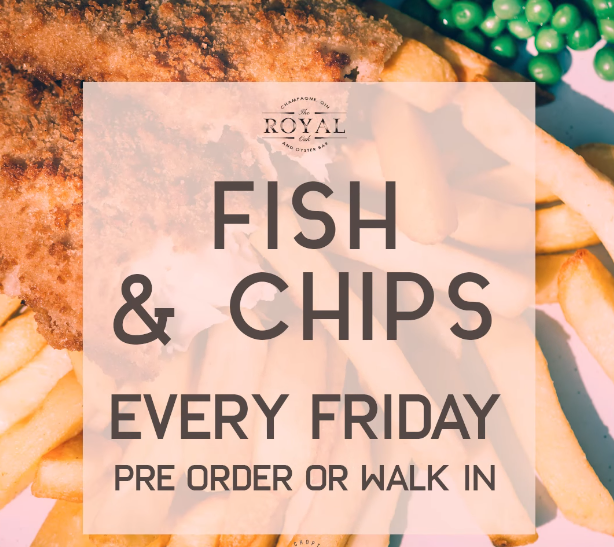 Takeaway Fish & Chips Every Friday from The Royal Oak