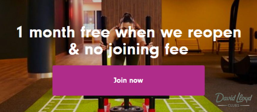 1 Month FREE Membership & No Joining FEE at David Lloyd