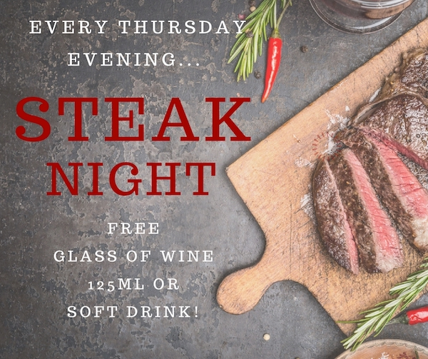 Steak Night at Sally Pussey's Inn