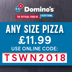 Any Pizza, Any Size, Only £11.99