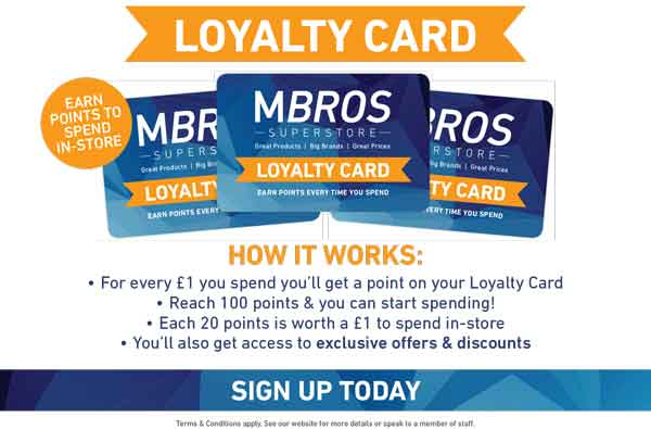 MBROS Superstore Loyalty Card