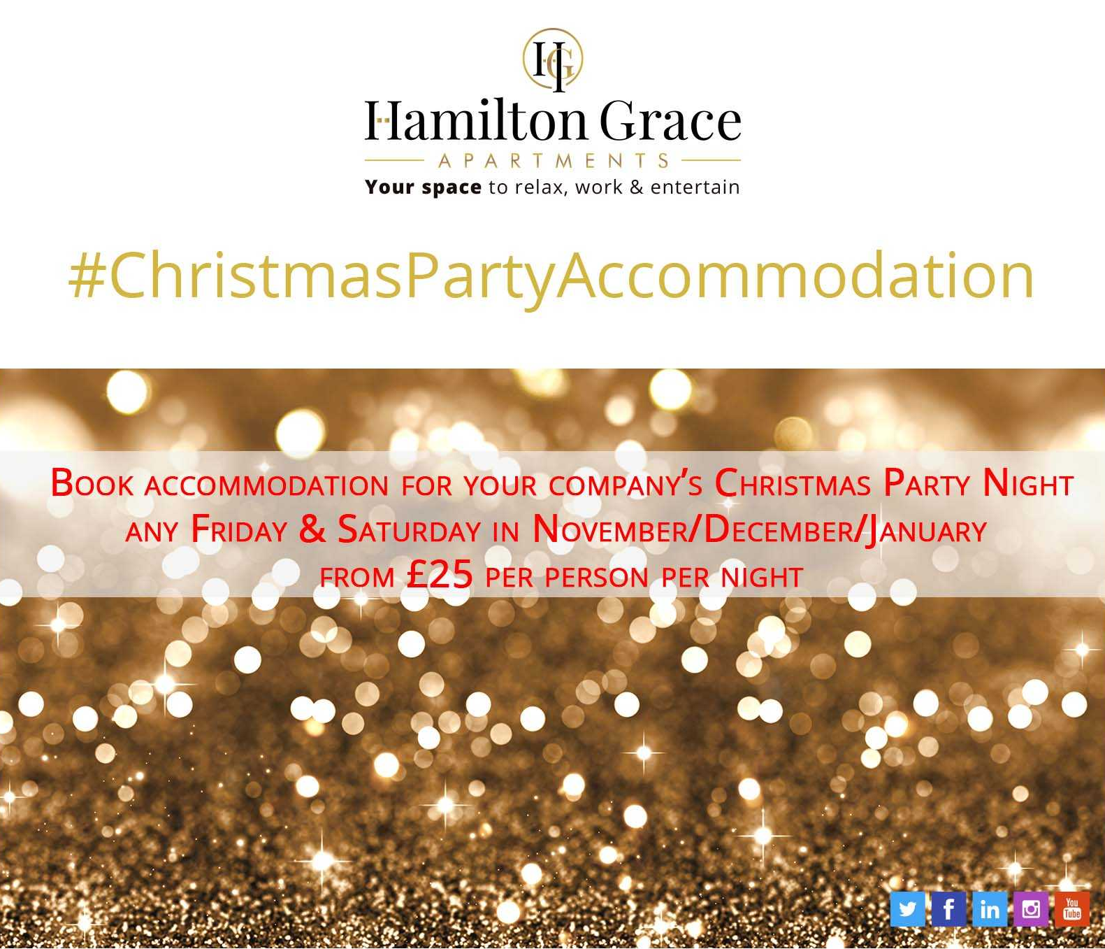 Christmas Party Accommodation from £25pp