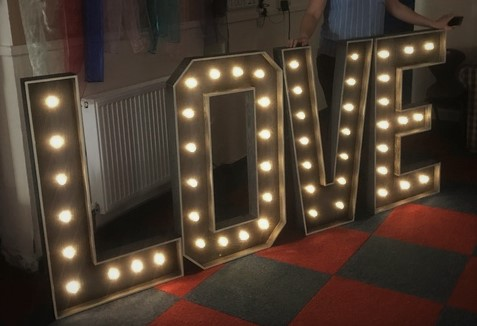 £75 Love Letters Hire