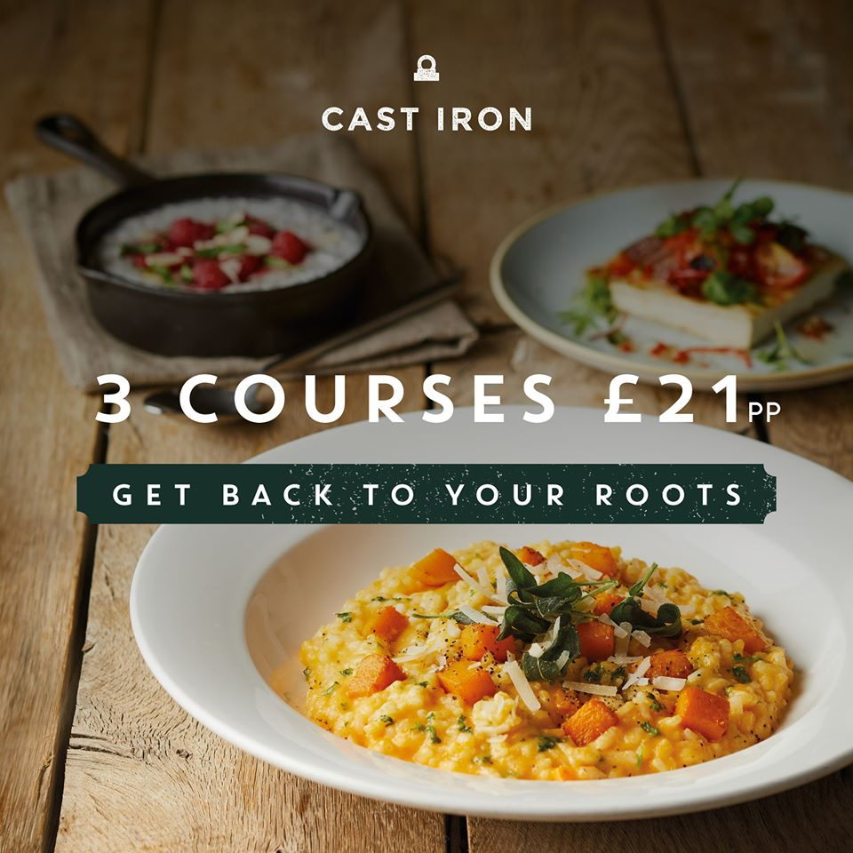 3 Course Set Menu - just £21!