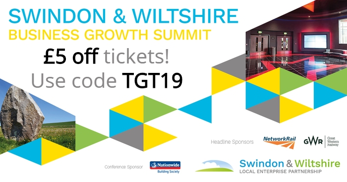 £5 OFF Swindon & Wiltshire Business Growth Summit Tickets