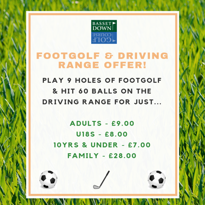 Footgolf & Driving Range Offer