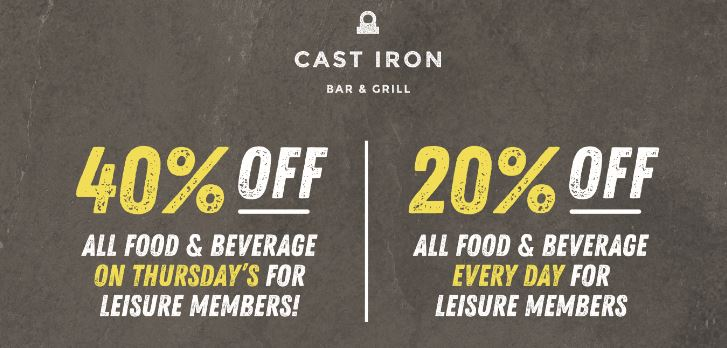 Leisure Members F&B Discount