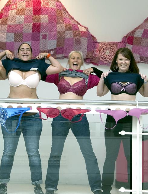 Foyer House Swindon : Snapped erica roe opens famous bra exhibition