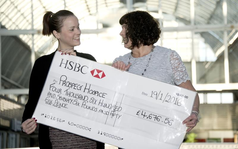 Snapped: Brunel Gift-Wrap Stall Presents Cheque to Prospect Hospice