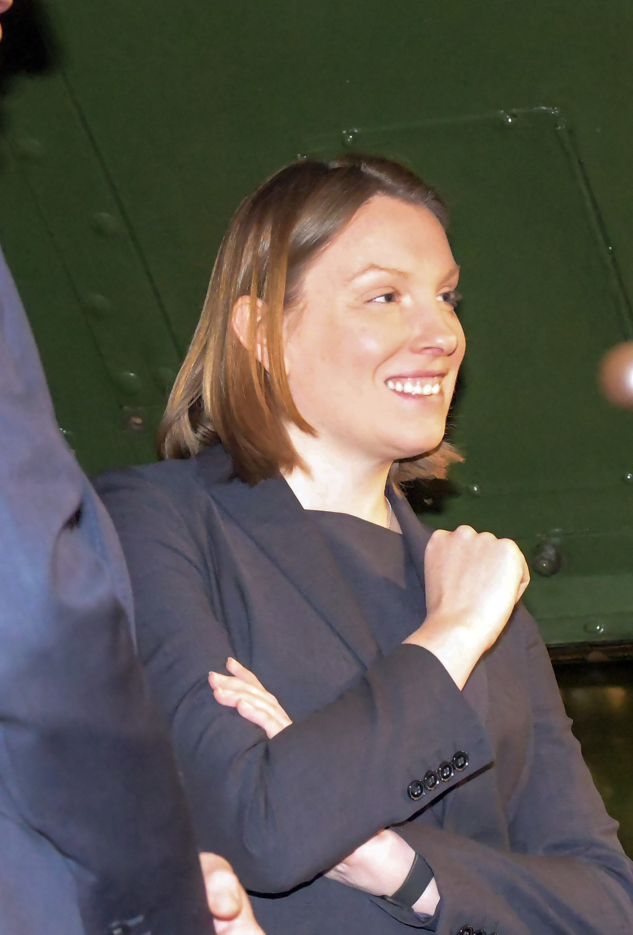 Snapped: Heritage and Tourism Minister Tracey Crouch at STEAM