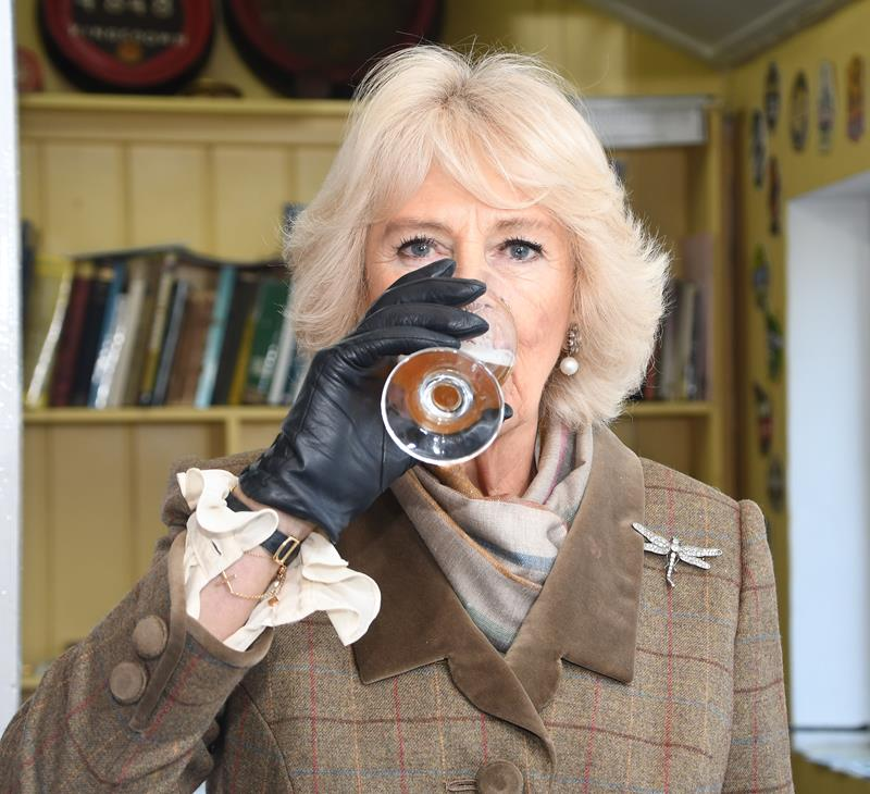Snapped: The Duchess of Cornwall at Arkells Brewery