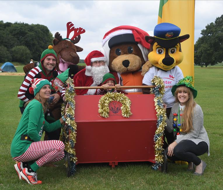 Launch of the Santa and Reindeer run at Lydiard Park