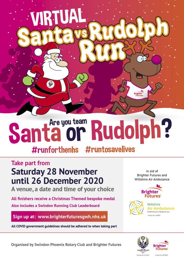 Virtual Santa vs Rudolph Run 2020