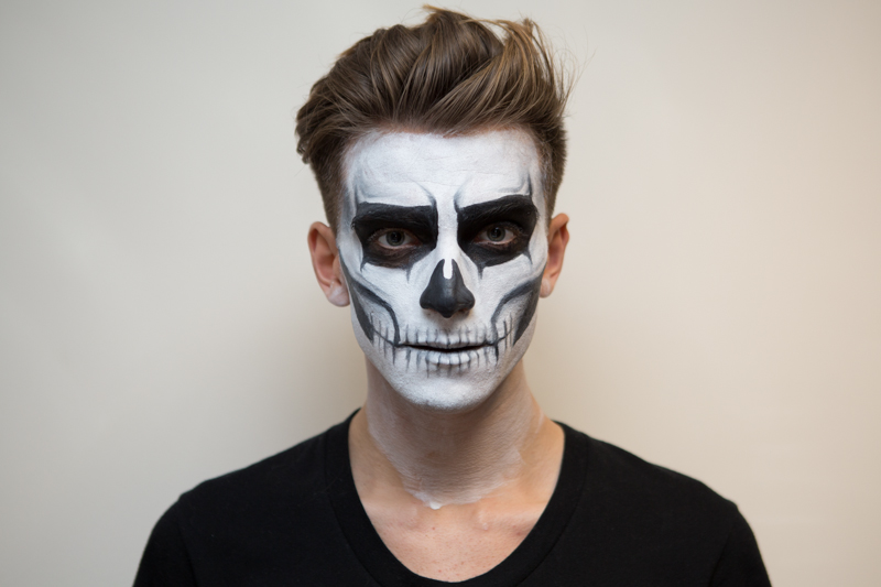 Halloween Face Painting Skeleton - Halloween-face-makeup